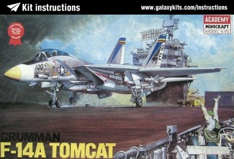 Box cover for Academy Grumman F-14A Tomcat in 1:48 scale