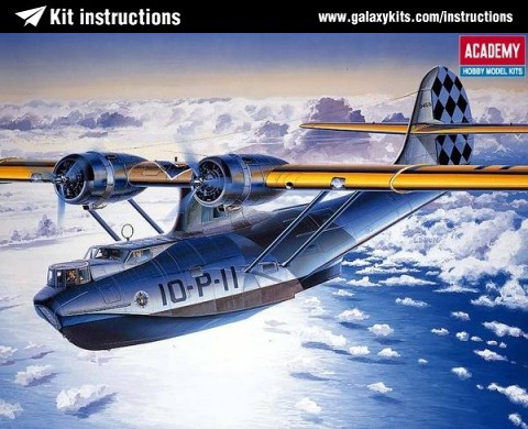 Box cover for Academy PBY2 FLYING BOAT in 1:72 scale