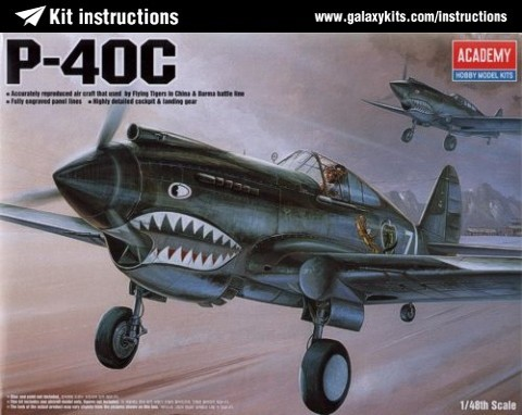 Box cover for Academy Curtiss P-40C Tomahawk in 1:48 scale