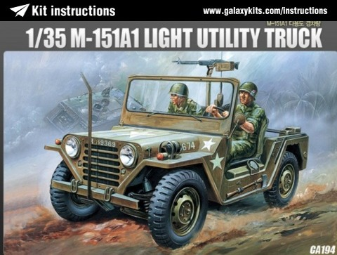 Box cover for Academy M151A1 LIGHT UTILITY TRUCK in 1:35 scale