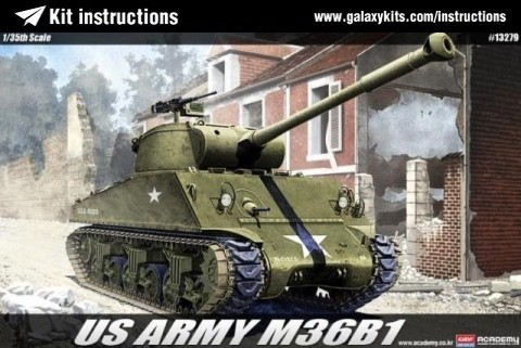 Box cover for Academy U.S.ARMY M36B1 GMC in 1:35 scale