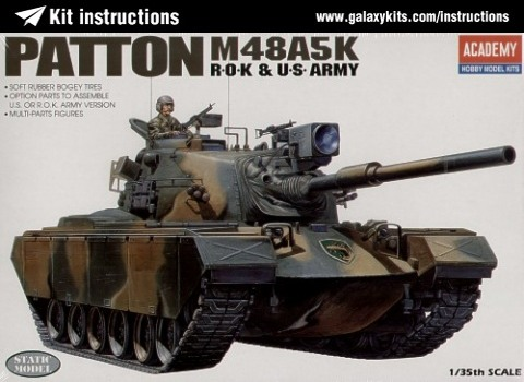 Box cover for Academy Patton M48A5K  R.O.K & U.S. ARMY in 1:35 scale