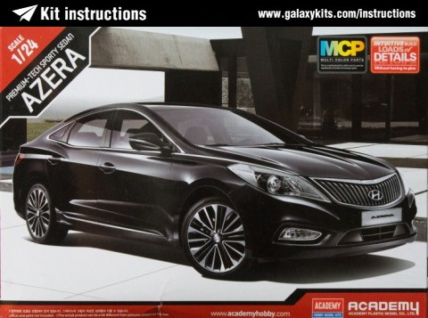 Box cover for Academy Hyundai Azera in 1:24 scale