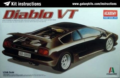 Box cover for Academy Diablo VT in 1:24 scale