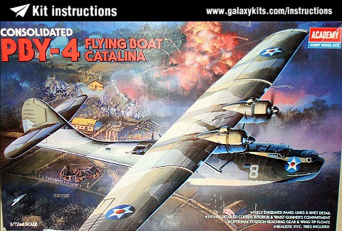 Box cover for Academy PBY-4 Catalina in 1:72 scale