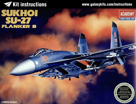 Box cover for Academy Su-27 Flanker B in 1:48 scale