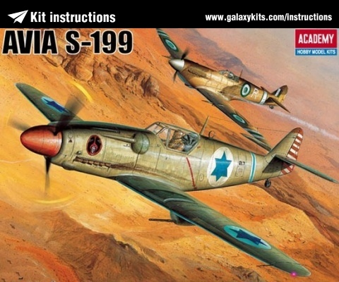 Box cover for Academy Avia S-199 in 1:48 scale