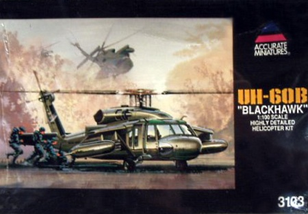 Box cover for Accurate Miniatures UH-60B Blackhawk in 1:100 scale