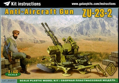Box cover for Ace Anti-Aircraft Gun Zu-23-2 in 1:48 scale