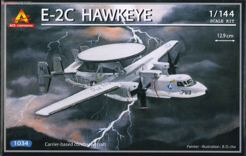 Box cover for ACE Corporation E-2C Hawkeye in 1:144 scale