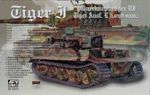 Box cover for AFV Club Tiger Ausf E (Latest) in 1:35 scale