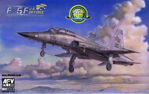 Box cover for AFV Club F-5F TIGER II FIGHTER-TRAINER CONFIGURATION K in 1:48 scale