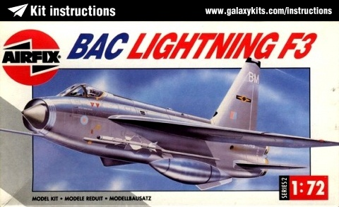 Box cover for Airfix BAC LIGHTNING F3 in 1:72 scale