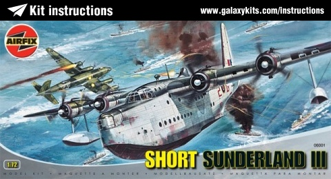 Box cover for Airfix Short Sunderland in 1:72 scale