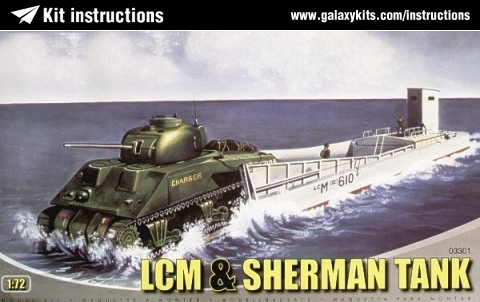 Box cover for Airfix L.C.M.III & Sherman in 1:72 scale