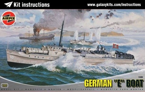 Box cover for Airfix German E-Boat in 1:72 scale