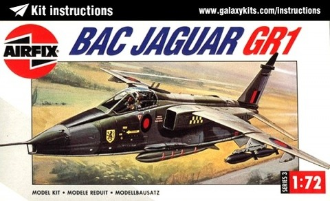 Box cover for Airfix BAC Sepecat Jaguar GR.1 in 1:72 scale