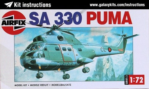 Box cover for Airfix SA.330 Puma in 1:72 scale