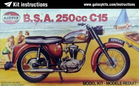 Box cover for Airfix B.S.A. 250cc Star C15 Motorcycle in 1:12 scale