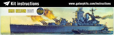 Box cover for Airfix HMS Nelson in 1:600 scale