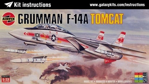 Box cover for Airfix F-14A Tomcat in 1:72 scale