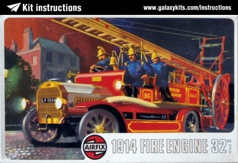 Box cover for Airfix 1914 Fire Engine in 1:32 scale