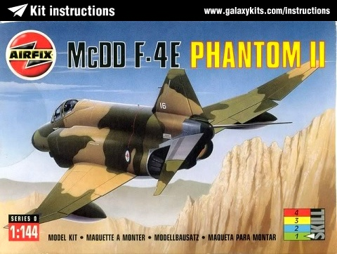 Box cover for Airfix McDD F-4E Phantom II in 1:144 scale