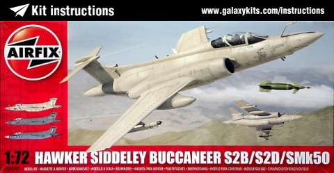 Box cover for Airfix HS Buccaneer S2, S2C, S2D, S50 SAAF  in 1:48 scale