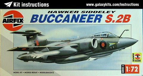 Box cover for Airfix Hawker Siddeley Buccaneer S.2B in 1:72 scale
