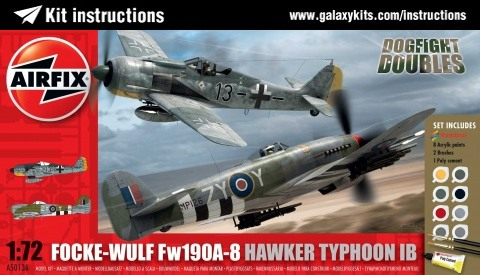 Box cover for Airfix Dogfight Doubles Fw190A-8 Typhoon 1B in 1:72 scale