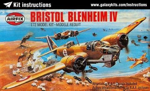 Box cover for Airfix Airfix Blenheim IV in 1:72 scale