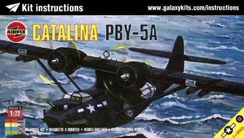 Box cover for Airfix Catalina PBY-5A in 1:72 scale