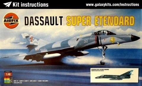 Box cover for Airfix Dassault Super Etendard in 1:48 scale