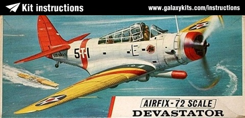 Box cover for Airfix Devastator TBD-1 in 1:72 scale