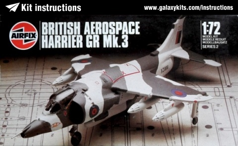 Box cover for Airfix HARRIER GR.3 in 1:72 scale