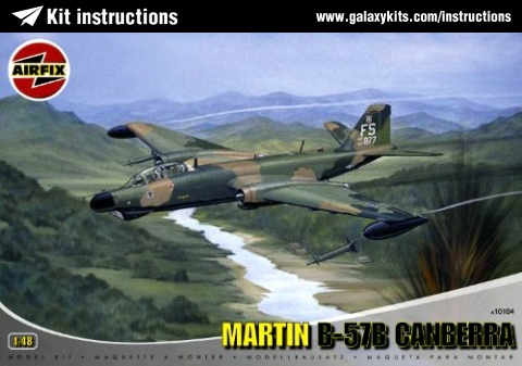 Box cover for Airfix Martin B-57B Canaberra in 1:48 scale