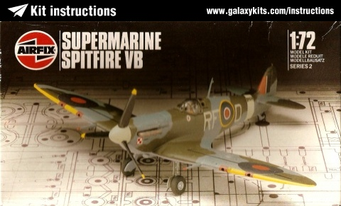 Box cover for Airfix Supermarine Spitfire Vb in 1:48 scale