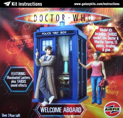 "Box cover for Airfix TARDIS ""Welcome Aboard"" in 1:12 scale"