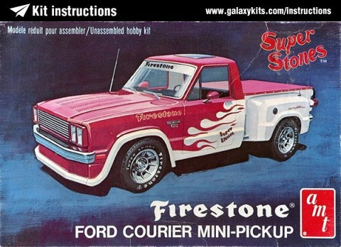 Box cover for AMT FIRESTONE Super Stones 78 Ford Courier Pickup in 1:25 scale