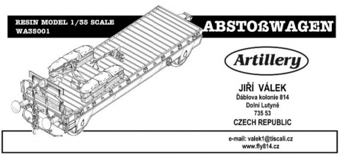 Box cover for Artillery Models Abstoßwagen armored (other) wagon from SOMUA S35 French Tank Panzerzug No. 26, 27, 28. in 1:35 scale