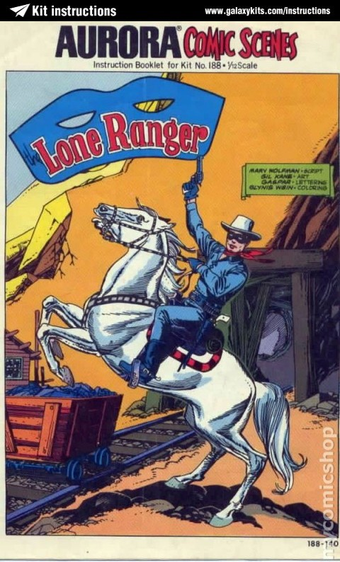 Box cover for AURORA Aurora Comic Scenes Lone Ranger in 1:12 scale