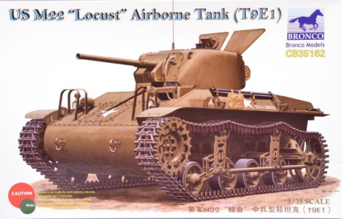 Box cover for Bronco Models M22 Locust (T9E1) in 1:35 scale