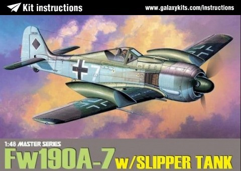 Box cover for Dragon Focke-Wulf Fw 190A-7 'w Slipper Tank' in 1:48 scale
