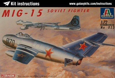 Box cover for Dragon Mikoyan MiG-15 FAGOT in 1:72 scale