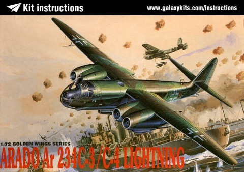 Box cover for Dragon Arado Ar234C-3,C-4 Lightning in 1:72 scale