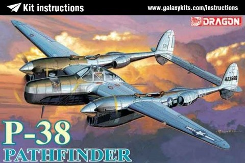 Box cover for Dragon P-38L Pathfinder in 1:72 scale