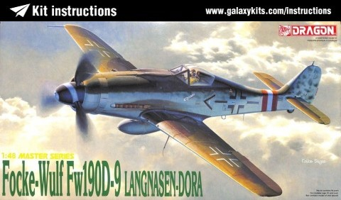 Box cover for Dragon Focke-Wulf Fw190D-9 Langnasen Dora in 1:48 scale