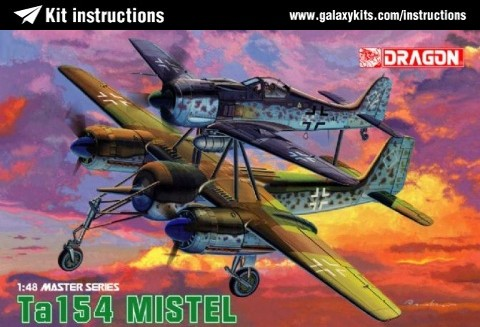 Box cover for Dragon Focke-Wulf Ta154 Mistel in 1:48 scale