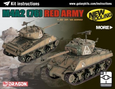 Box cover for Dragon M4A2 (76) Red Army in 1:35 scale