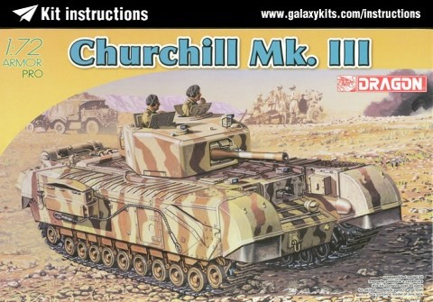 Box cover for Dragon British Churchill Mk.III in 1:72 scale
